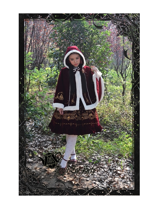 Magic Tea Party Winter Keep Watch Series Christmas Embroidery Lolita Shawl