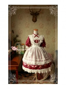 Magic Tea Party Flower Fairy Series Lace White Voile Lolita Little Apron