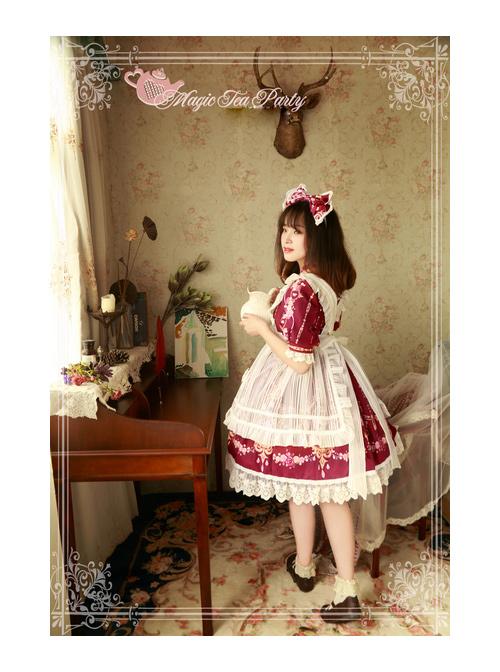 Magic Tea Party Flower Fairy Series Lace White Voile Lolita Little Apron