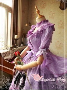 Magic Tea Party Cross And Censer Series Chiffon Classic Lolita Dustcoat