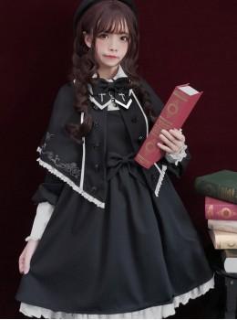 Black Chapel Retro Style Gothic Lolita Shawl