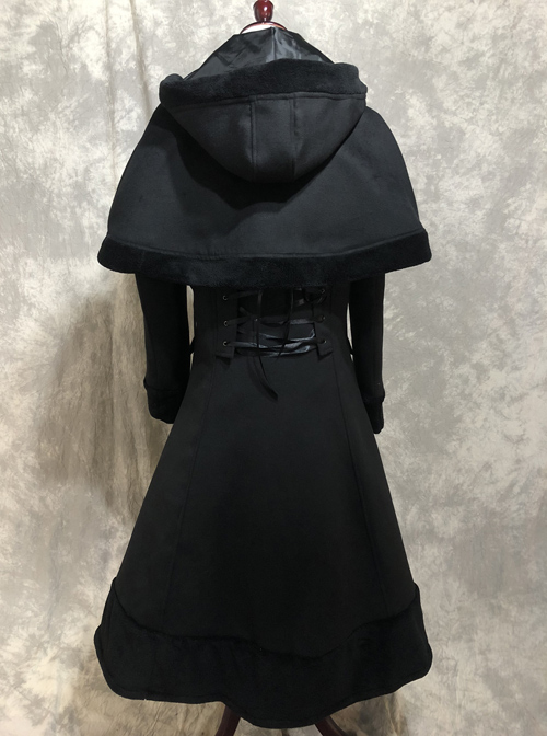 Classic Lolita Lapel Long Style Coat With Cloak