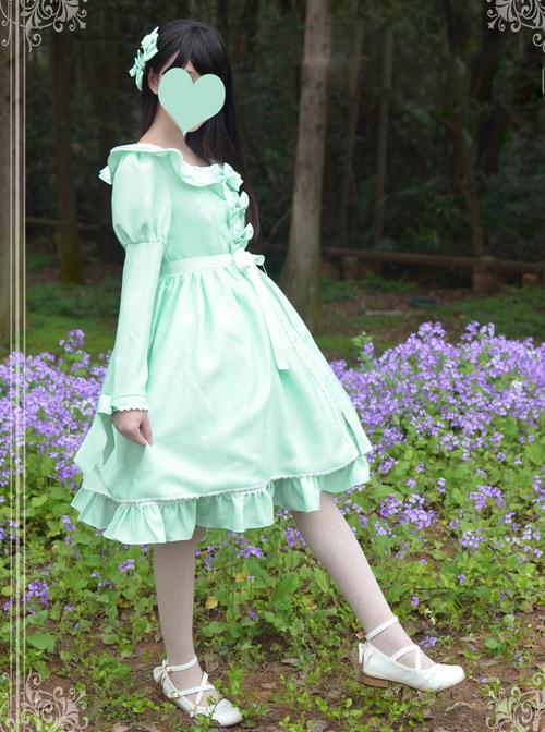 Magic Tea Party Wind's Child Series Bowknot Lolita Long Coat