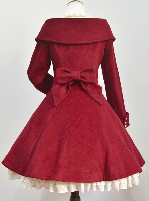 Winter Polychromatic Optional Wool Double-breasted Lolita Coat