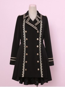Black Military Uniform Style Lolita Coat