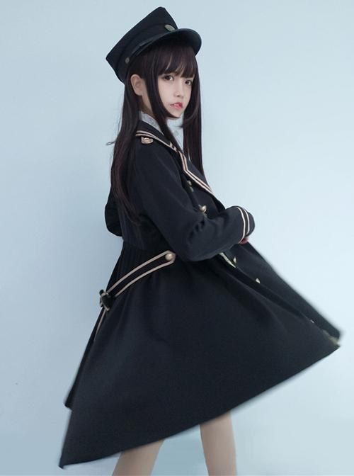 Black Military Uniform Style Lolita Coat