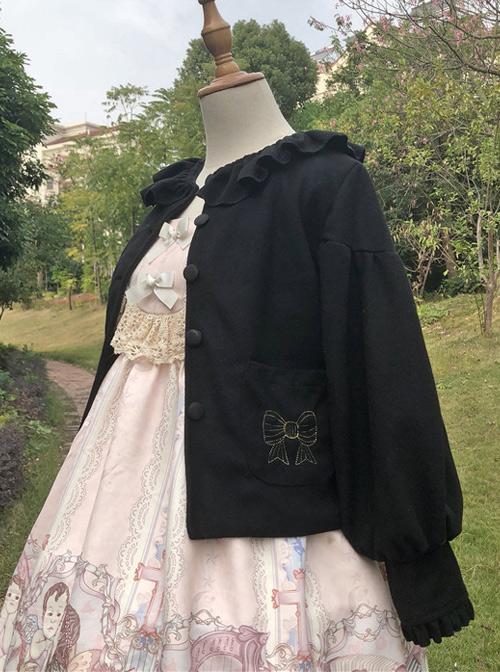 Cute Woolen Lantern Sleeves Classic Lolita Short Coat