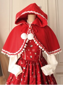 Little Red Riding Hood Series Retro Cute Classic Lolita Cloak