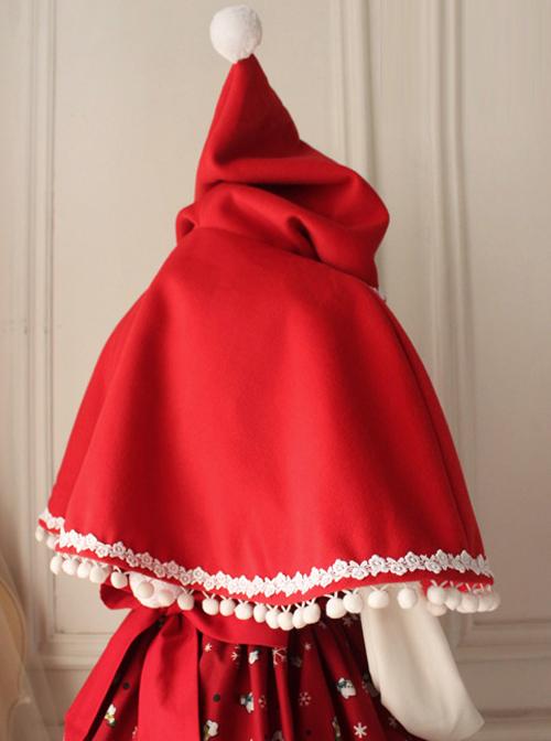 Little Red Riding Hood Series Retro Cute Classic Lolita Cloak