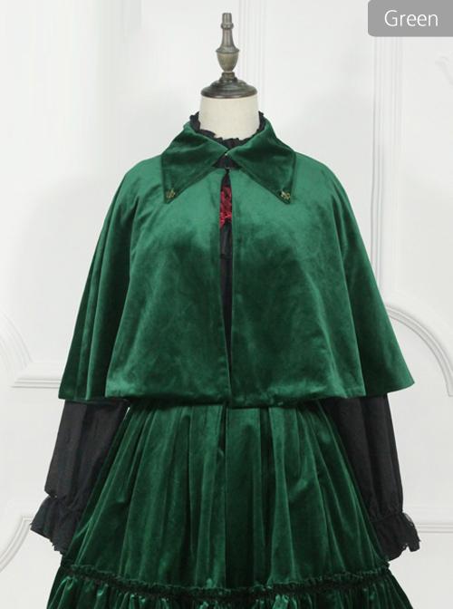 Little Red Riding Hood Series Retro Fairy Style Gothic Lolita Lapel Cloak