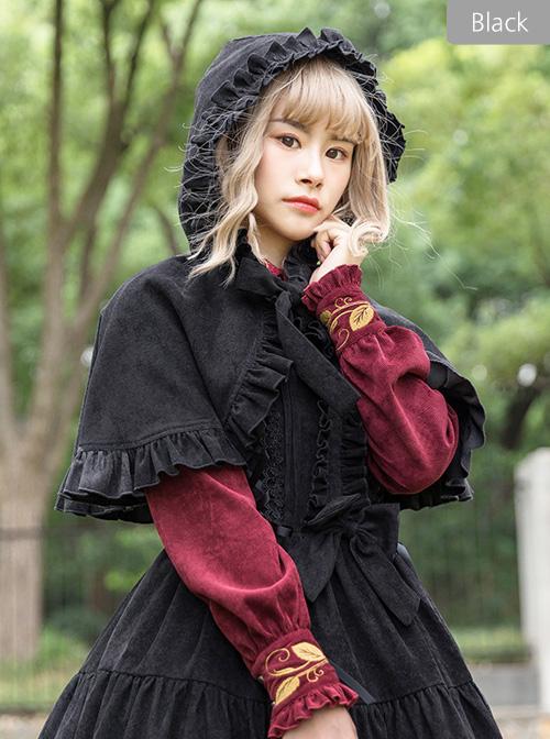 Danube Lovers Series Ruffle Pure Color Classic Lolita Cloak