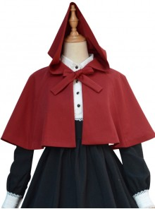 Pure Color Concise Retro Classic Lolita Cloak