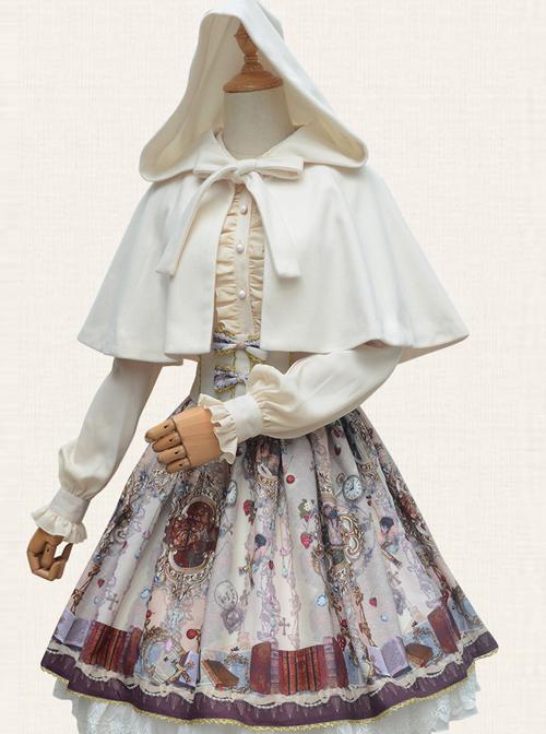 Pure Color Concise Retro Classic Lolita Cloak