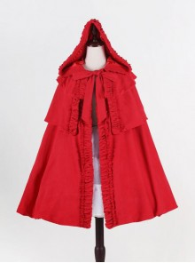 Little Red Riding Hood Series Gothic Lolita Hooded Short Cloak