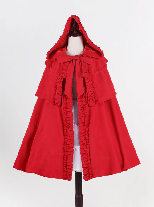 Little Red Riding Hood Series Gothic Lolita Hooded Short Cloak