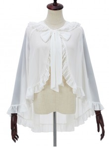 Spring-Summer Style Rabbit Ears Sunscreen Shawl Sweet Lolita Cloak