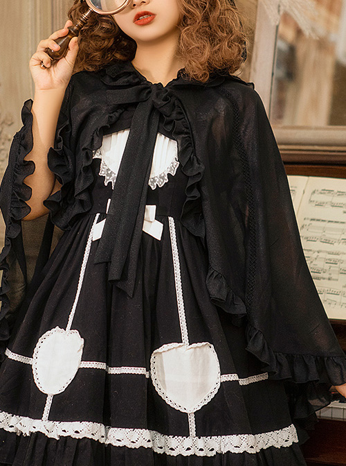 Spring-Summer Style Rabbit Ears Sunscreen Shawl Sweet Lolita Cloak