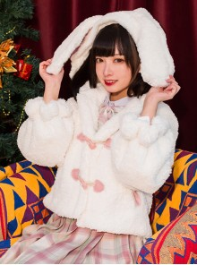 Sleepwalking Rabbit Series Cute Rabbit Ears Sweet Lolita Short Coat