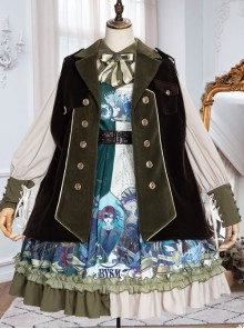 Abyss Series Classic Lolita Lapel Sleeveless Cloak