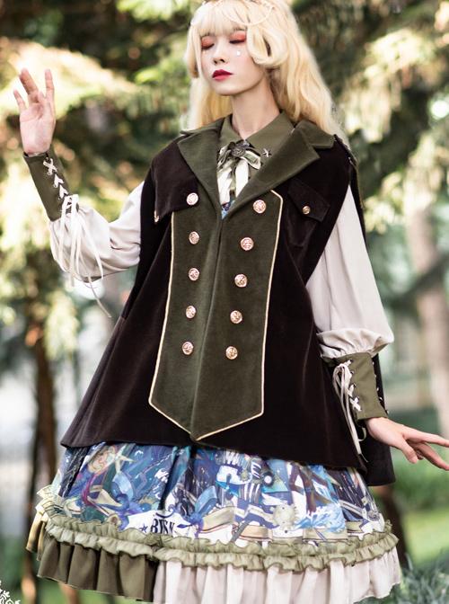 Abyss Series Classic Lolita Lapel Sleeveless Cloak
