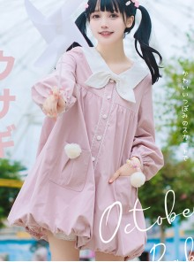 October Rabbit Series Rabbit Ears Sweet Lolita Thin Coat