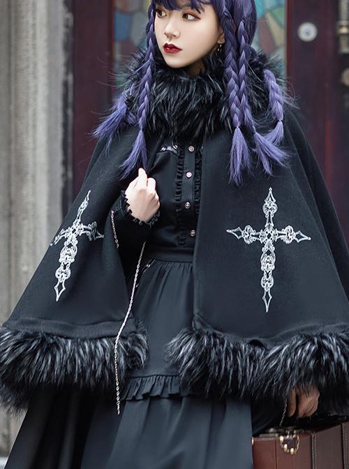 Assassinate Dawn Series Autumn Winter Thick Cloak Retro Military Style Gothic Lolita Long Warm Coat