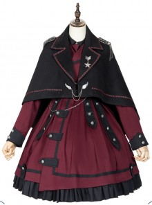 The Battle Of The Jedi Series Military Style Lolita Autumn Winter Black Cloak