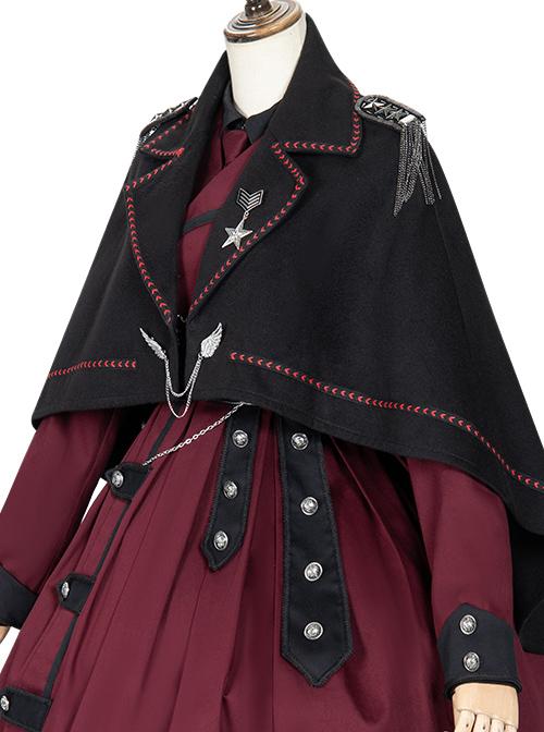 The Battle Of The Jedi Series Military Style Lolita Autumn Winter Black Cloak
