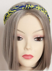 Yellow And Blue Concise Chiffon Hair Band