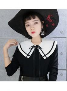 Lolita Navy Blue Lady's False Collar