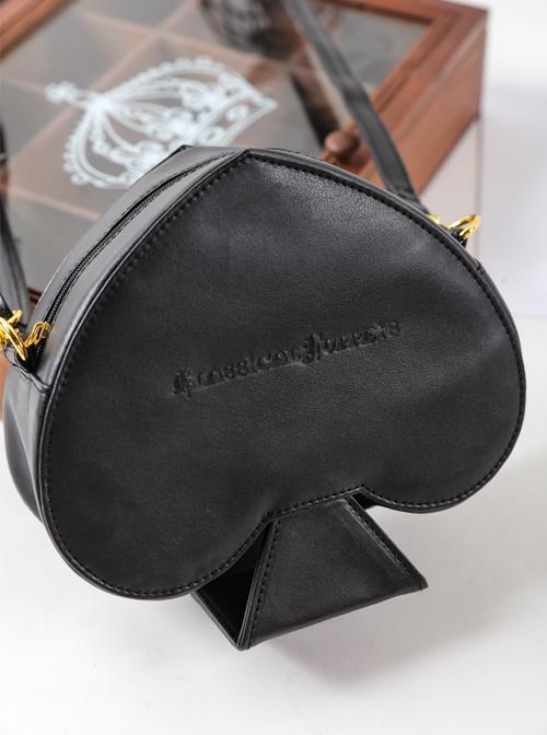 Alice Poker Black Lolita Single Shoulder Bag