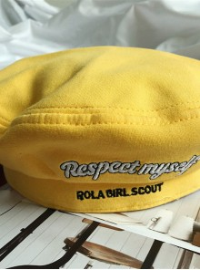 Bowknot Retro Yellow Lolita Beret