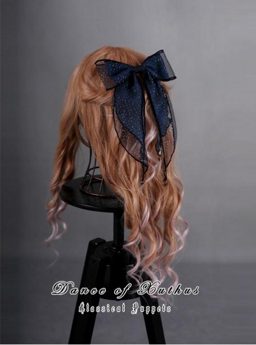 Obsidian Butterfly's Dance Jewelry Blue Lolita Hair Clip