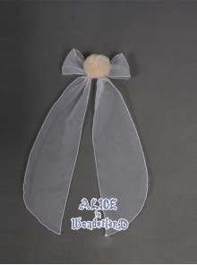 Hunt For Novelty Alice White Bowknot Sweet Lolita Rabbit Tail