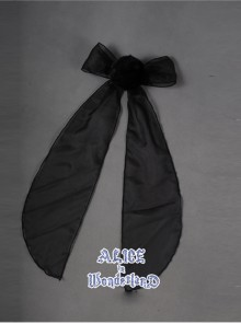 Hunt For Novelty Alice Black Bowknot Sweet Lolita Rabbit Tail