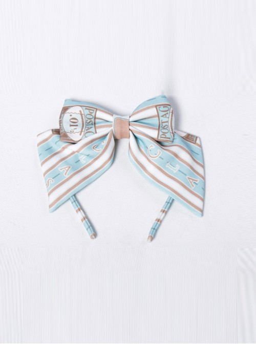 Go To A Journey Series Mint Color Bowknot Classic Lolita Head Band