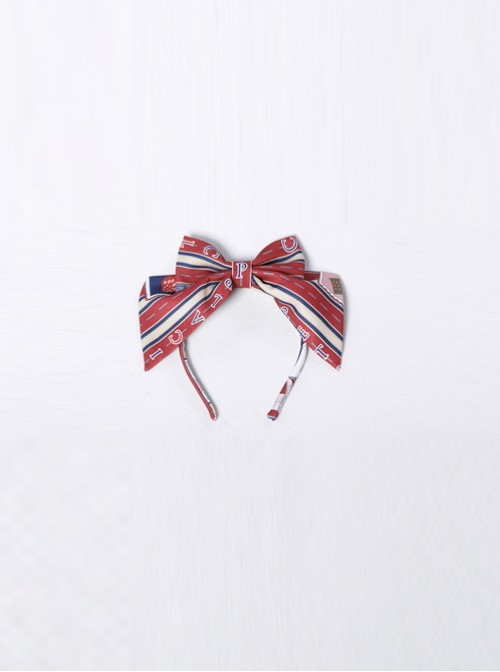 Go To A Journey Series Wine Red Bowknot Classic Lolita Head Band