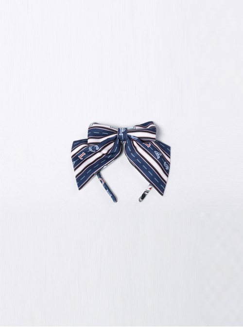 Go To A Journey Series Navy Blue Bowknot Classic Lolita Head Band