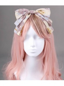 Royal Carousel Series Bluish Grey Bowknot Classic Lolita Head Band