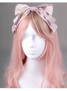 Royal Carousel Series Smoke Pink Bowknot Classic Lolita Head Band