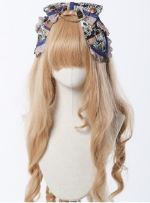 Steam Band Series Gorgeous Gear Design Bowknot Classic Lolita Head Band
