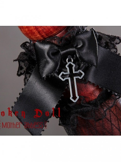 Mother Abbess Series Black Lace Gothic Lolita Hand Sleeves