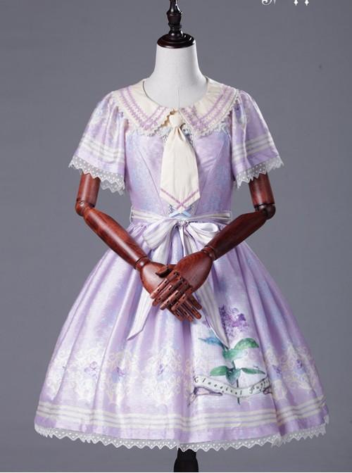 Miss Four's False Collar Series Round-Neck Rice White Classic Lolita False Collar