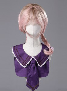 Miss Four's False Collar Series Round-Neck Dark Purple Classic Lolita False Collar