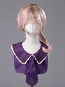 Miss Four's False Collar Series Round-Neck Dark Purple Classic Lolita False Collar