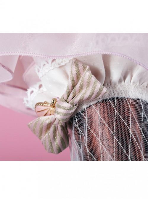 Mermaid Series Stripes Bowknot Ivory Sweet Lolita Hand Sleeves