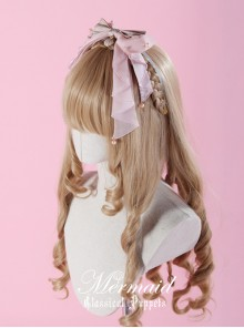 Mermaid Series Long Ribbon Yarn Pink Bowknot Lolita Head Band
