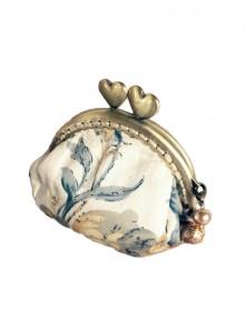 Garden Series Floral Printing Golden Clasp Elegant Classic Lolita Cheap Handbags