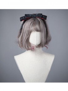 Moon Wolf Series Daily Edition Black Bowknot Gothic Lolita Head Band