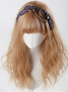 You Need Cry Dear Series Metal Chain Khaki Bowknot Lolita Head Band